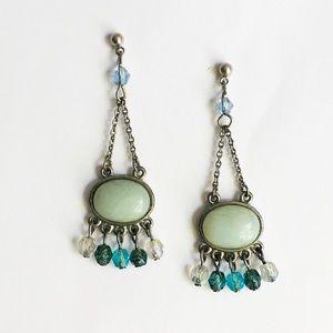 Lia Sophia Crystal Drop Earrings